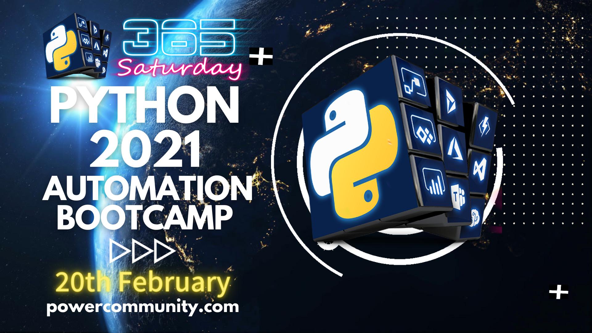 Python Saturday Automation Bootcamp 2021