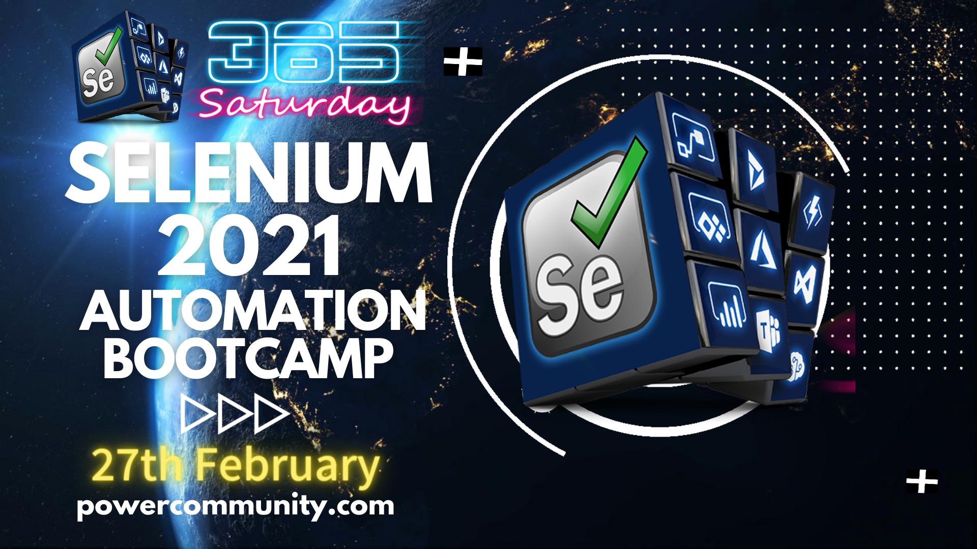Selenium Saturday Bootcamp