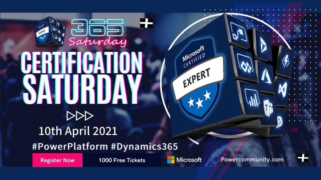 Microsoft Certification Saturday 2021