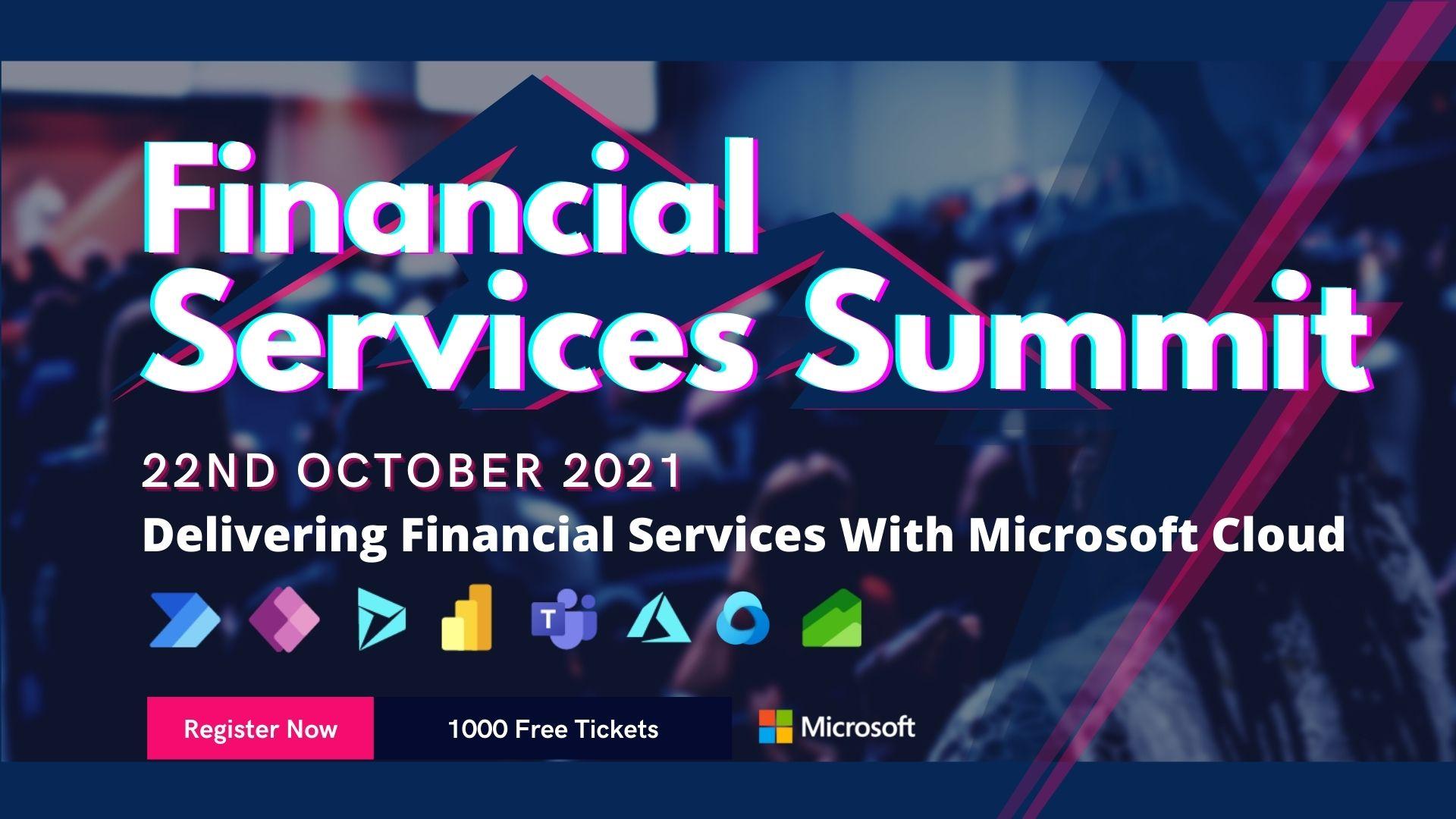 Microsoft 365 Financial Services Summit 2021